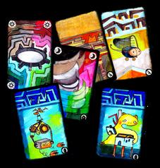 Onirims farverige kort
