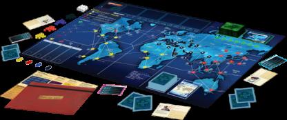 Pandemic Legacy Season 1 gameboard