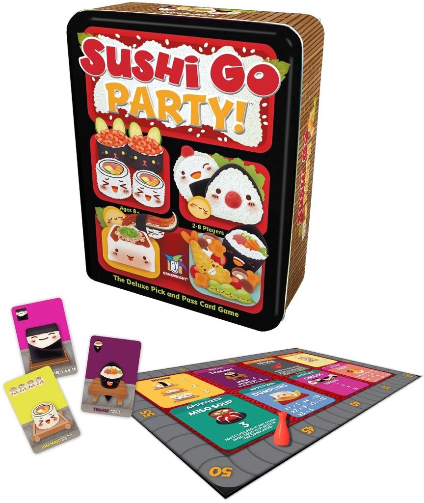 Sushi Go Party komponenter